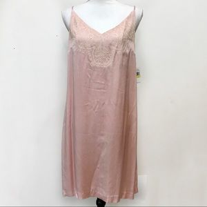 NWT 1. State Slip Dress Pink Lace Medium